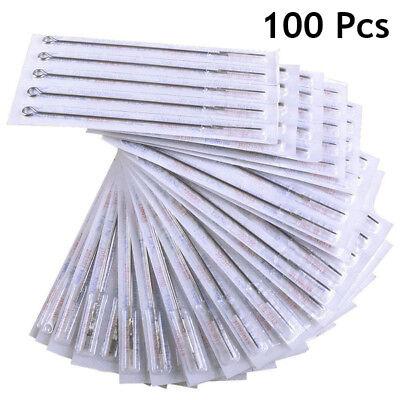 100 Pcs Mix Sizes Sterile Disposable Tattoo Needles 3 5 7 9 RL 5 7 9 RS 5 7 9 M1