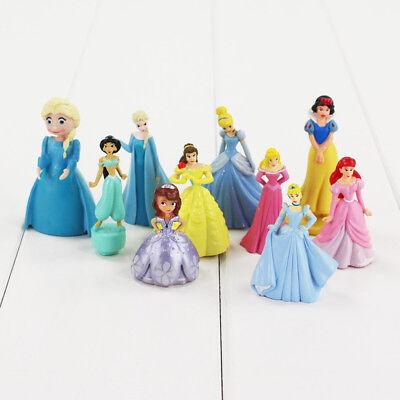 Disney Princess Figures Toy Cake Toppers Frozen Jasmine Kids Party Bag Filler  ()