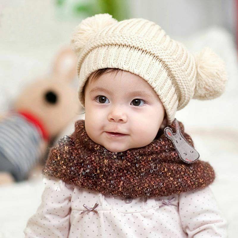 Gorros De Invierno Para Bebe Baby Caps Boys Girl Toddler Crochet Beanie Hairball