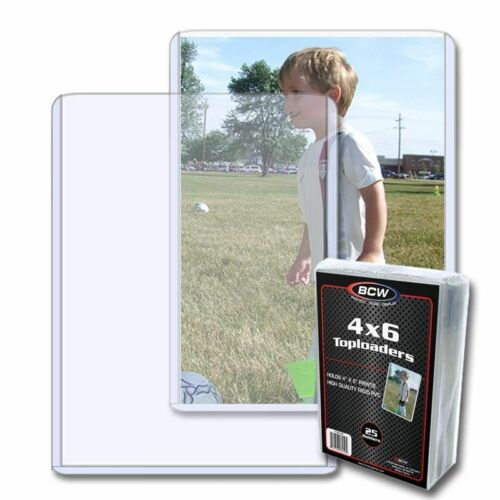 High Quality BCW Topload Holder For 4x6 Photos & Postcards Clear PVC Pack of 25