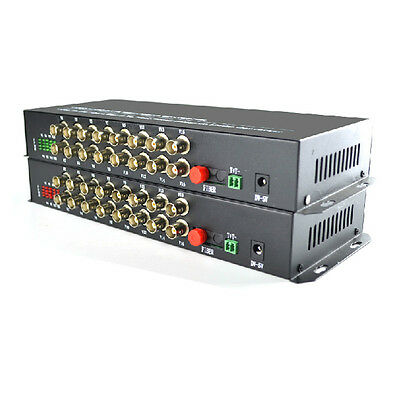 16 Channel digital Video fiber media converter Transmitter & Receiver 1 Pair