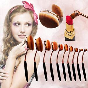 Women-Pro-Toothbrush-Makeup-Brushes-Eyebrow-Oval-Powder-Cream-Foundation-Brush