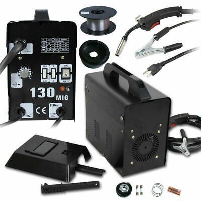 Mig 130 Welder Flux Core Wire Automatic Feed Welding Machine W Mask 110v