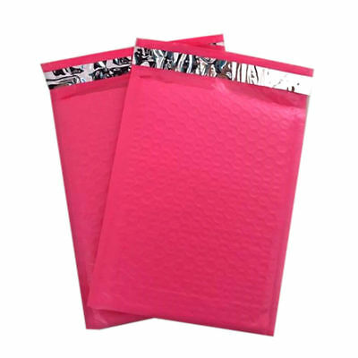 100 #0 ( PINK ) Poly Bubble Mailers Envelopes Bags 6x10 Extra Wide CD DVD 6x9
