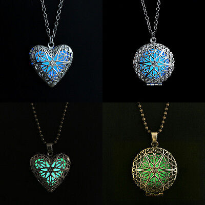 Valentine S Day Heart Of Sea Steampunk Glow Locket Jewelry Gift For Her Necklace