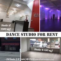 Dance Studio. Workshops studio. For rent.