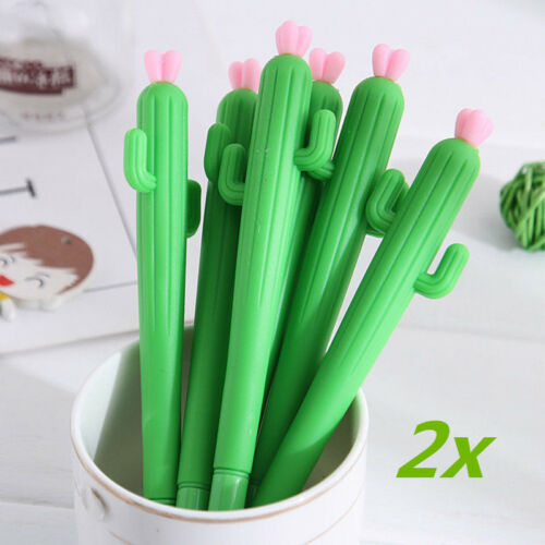 2pcs Cactus Gel Ink Pen Stationery Pen School & Office Kawaii Supply