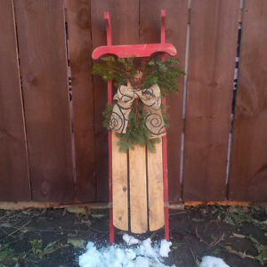Vintage Look Sled With Fresh Bough Belleville Belleville Area image 1