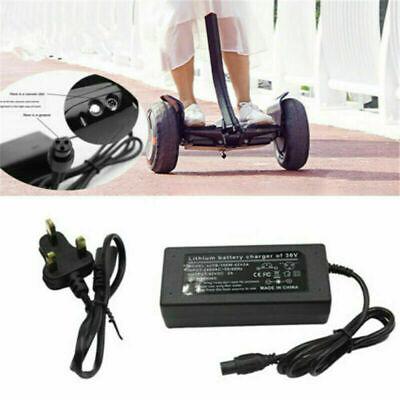 42V 2A Batería Cargador para Patinete Smart Balance Hoverboard Eléctrico Bike