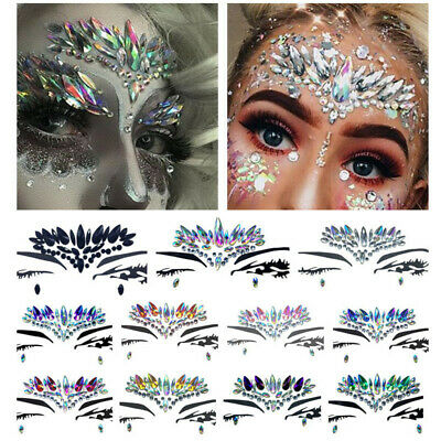 Fashion DIY face crystal Glitter sticker Masquerade Face Decor Temporary - Masquerade Mask Face Stickers