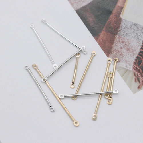 100p 16/20/25/30/35/40mm Metal Connector Bar Link Pendants craft jewelry finding