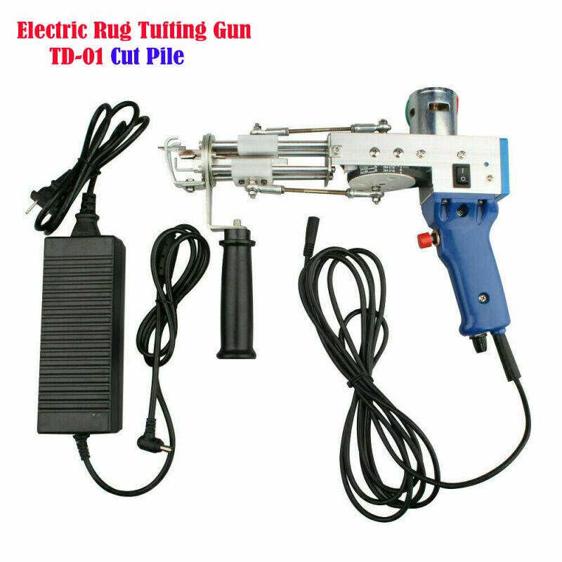 Electric Carpet Tufting Gun Rug Weaving Flocking Machines Cut Pile Loop Pile