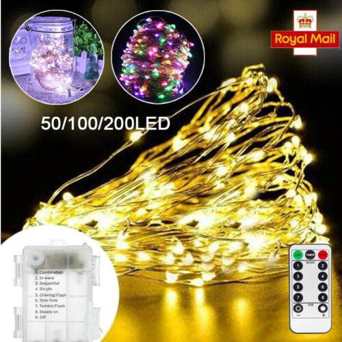 5//10//20M USB OPERATED LED STRING FAIRY LIGHTS CHRISTMAS WEDDING PARTY DECOR UK