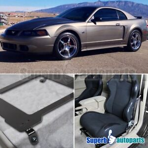99-04 Mustang Racing Seat Mounting Brackets Base Track Tensile Steel Bucket Pair