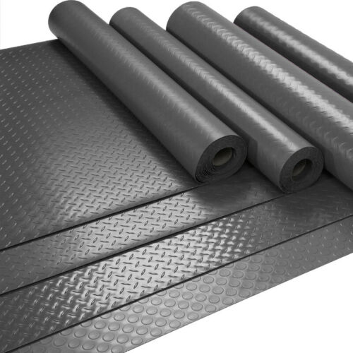 Car Parts - RHOMBIC/CHECKER PLATE ROLL MAT GARAGE CAR RUBBER MATTING 1.5M WIDE ANTI SLIP MAT