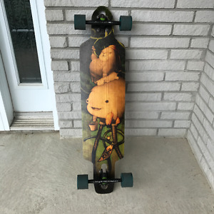 Custom Flexible Free Ride Longboard with cool, awesome design