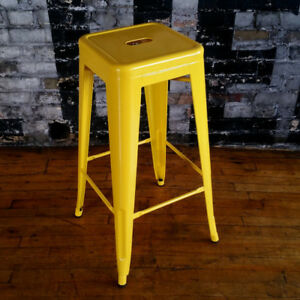 Two Yellow Stools from Design Republic - Perfect Condition!