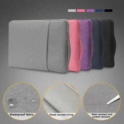 Laptop Soft Sleeve Case Bag Cover For MacBook Pro Air HP-Del