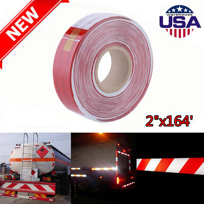 2x164 Dot-c2 Reflective Conspicuity Safety Tape Trailer Tankers 6red White Qc