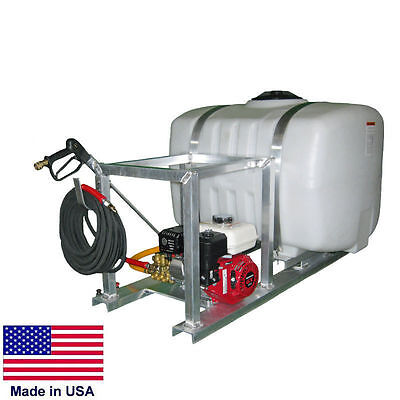 Sprayer Commercial - Skid Mounted - 100 Gallon Tank - 5.5 Hp Honda - 50 Ft Hose