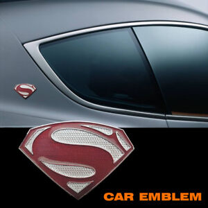 Superman Car Auto Brand New Alloy Metal Sperman Logo Decal Badge Emblem Sticker