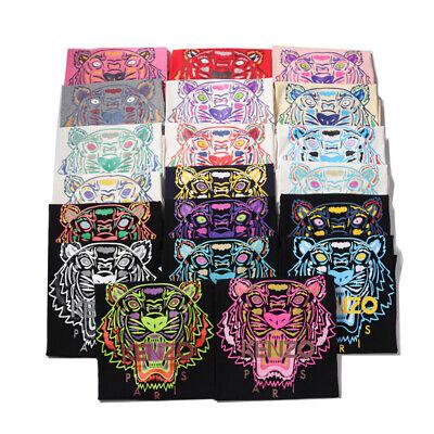 Kenzo Paris Couple Embroidered Men's Women's Black Head Tiger T-shirt