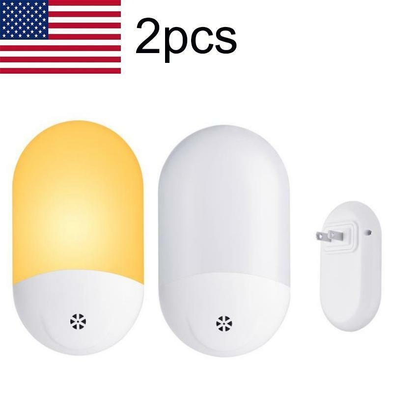 LED Plug-In Automatic Sensor Hallway Plug Socket Night Light Room Safety Lamp