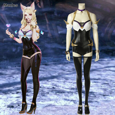 League of Legends Costume KDA Ahri Cosplay Anime Outfits Halloween Girl Suits