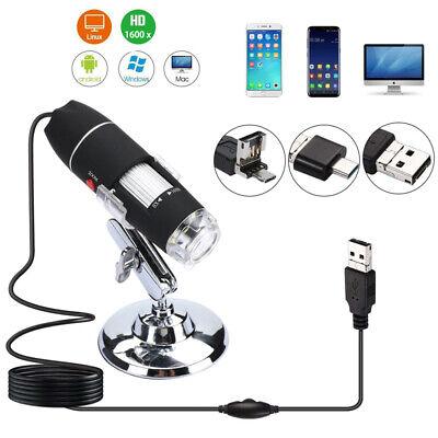 10x-1600x 8 Led Digital Microscope Camera Handheld Usb Magnification Endoscope