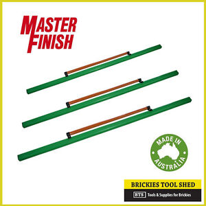 MASTER FINISH CONCRETE CLAMPED SCREED 3 PACK - 1.2M, 1.8M & 2.4M - AUSSIE MADE