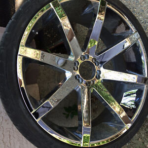 """26"""" KMC Slides rims and tires"""