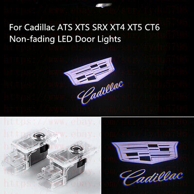 Non-Fading Cadillac LED PROJECTOR LIGHTS HD LOGO ACCESSORY CAR DOOR LAMP -