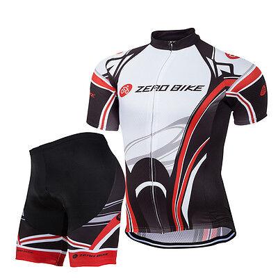 Herren Radfahren Radsport Anzug Kurzarm Trikot & Hose Set Fahrradbekleidung Neu