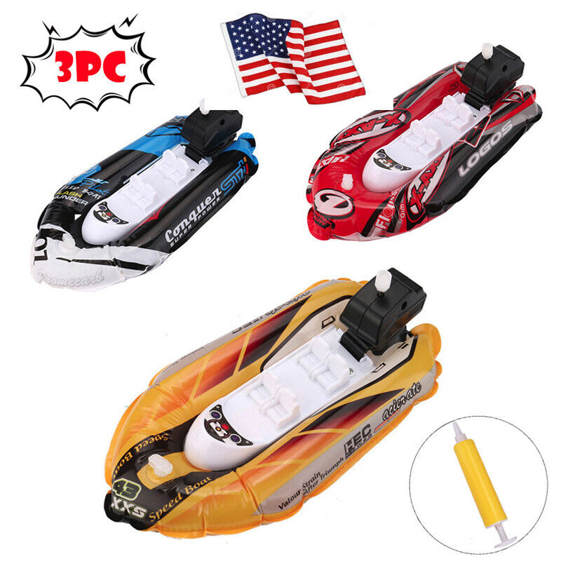 Mini Inflatable Yacht Boat Children's Bath Toys Pool Toys Mo