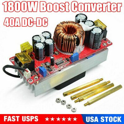 Adjustable 1800w 40a Dc-dc Boost Converter Step Up Power Supply Module Constant