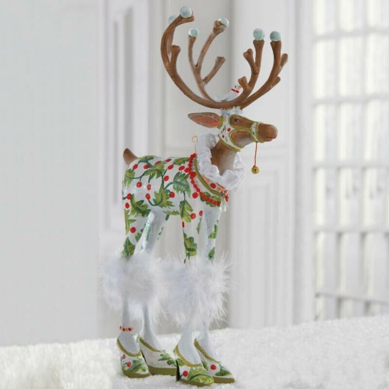 """NEW 12"""" Patience Brewster Krinkles Christmas Vixen Dash Away Reindeer Figure"""