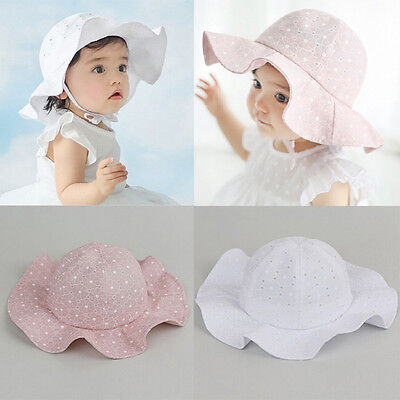 Usa Stock Toddler Kids Girl Cap Summer Outdoor Baby Girl Sun Beach Hat Cotton 11