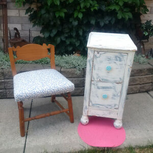 ANTIQUE CABINET  AND Antique Chairs ** Please See EACH PRICE**