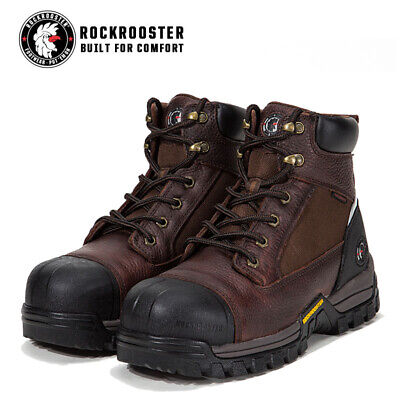 ROCKROOSTER Men Work Boots Composite Toe Waterproof Oil Resistant Safety Shoes Composite Work Boots