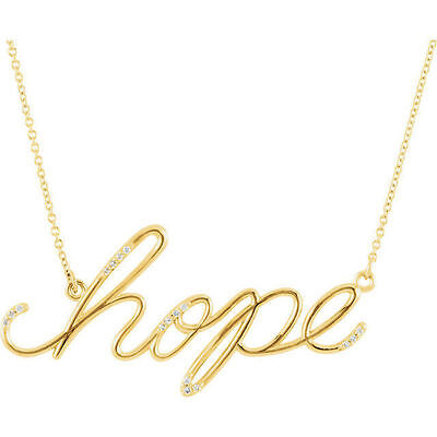 """Hope Diamond Necklace - Diamond Hope 16.8"""" Necklace In 14K Yellow Gold"""