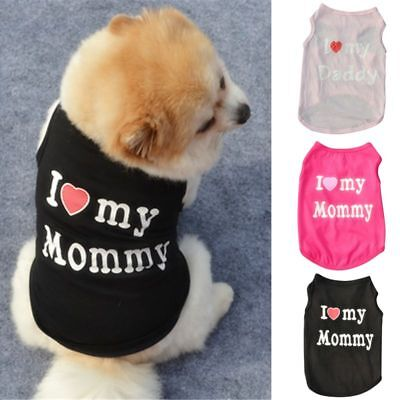 Small Puppy Costumes (Small Dog Cat Vest Puppy T-Shirt Coat Pet Dog Clothes Summer Apparel Costumes)