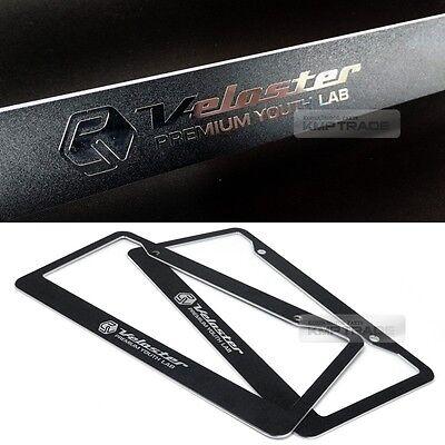 license plate aluminum metal black frame chrome point logo 2p for 11 16 veloster