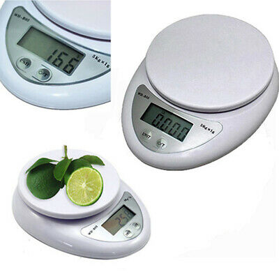LCD Digital Kitchen Scale 5KG 11LBS Electronic Weight Diet F