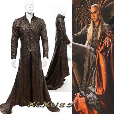 The Hobbit Elves King Thranduil Cosplay Costume Long Coat Customize Halloween](The Hobbit Elf Costume)