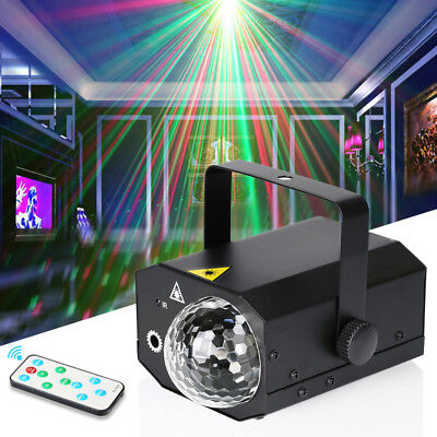 16 in 1 Sound Active Stage Light LED Laser RGB Christmas Disco Party Lighting