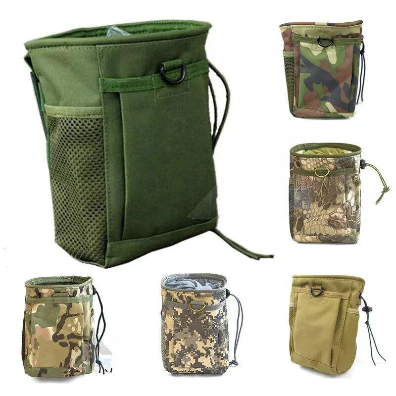 Camo Outdoor Metal Detector Finds Zipper Pouch Waist Bag for Metal Detecting