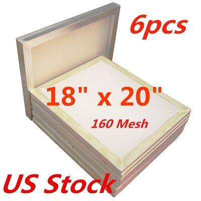 6pcs 18 X 20 Aluminum Frame Silk Screen Printing Screens 160 Mesh Usa Stock