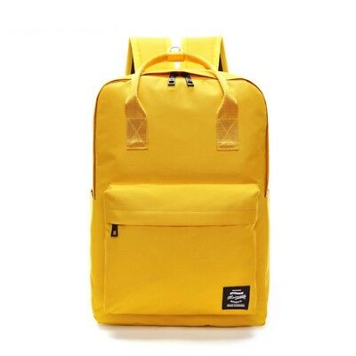 Womens Yellow Backpack Ladies Shoulder School Bags Girls Travel Handbag Rucksack
