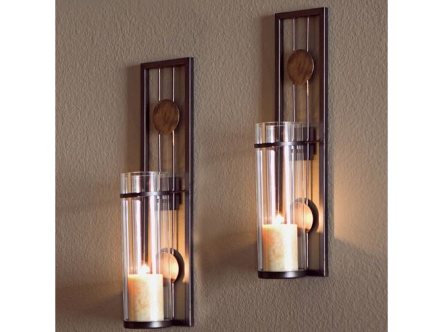 Wall Sconce Set Of Two Mounted Candle Holder Moder