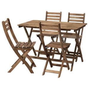 Ikea - Askholmen table and four chairs outdoor - free ship